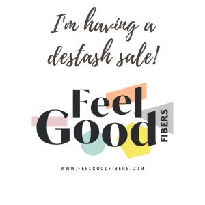 Blog and Instagram Button I'm having a destash sale on FeelGood Fibers