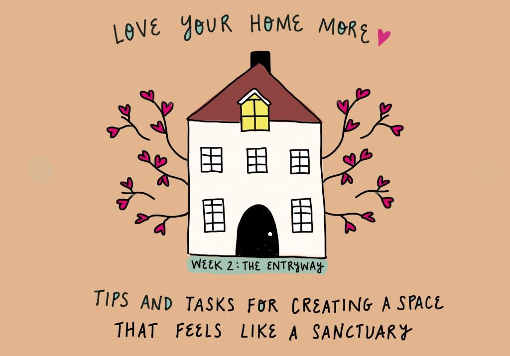 Love your home more: tips and tasks for creating a space that feels like a sanctuary week 2 the entryway by feelgood fibers