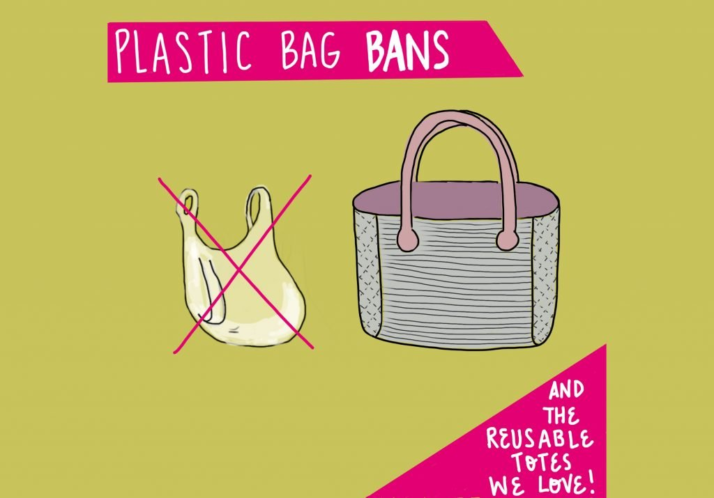 Plastic Bag Bans and Reusable Totes we love FeelGood Fibers