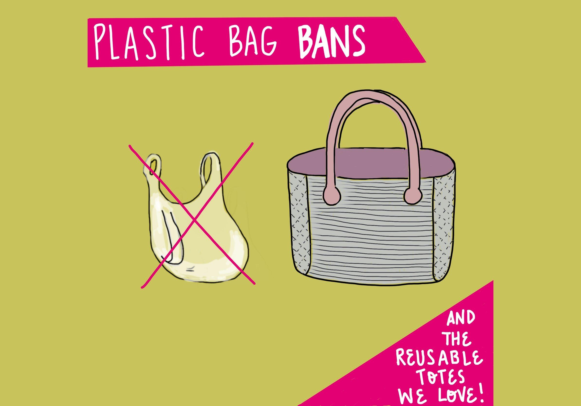 Plastic Bag Bans and Reusable Totes we love FeelGood Fibers