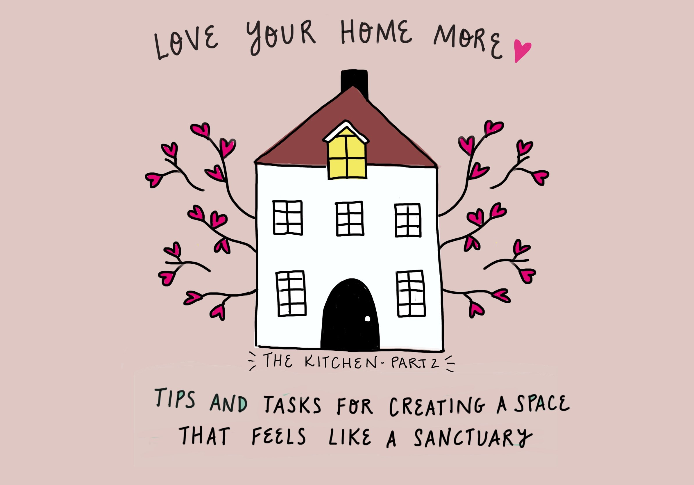 Love your home more: tips and tasks for creating a space that feels like a sanctuary week 4: (The Rest Of) The Kitchen by feelgood fibers