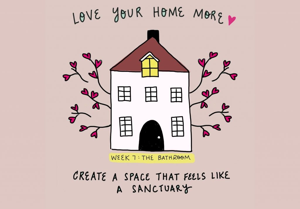 Love Your Home More Week 7 The Bathroom on FeelGood Fibers
