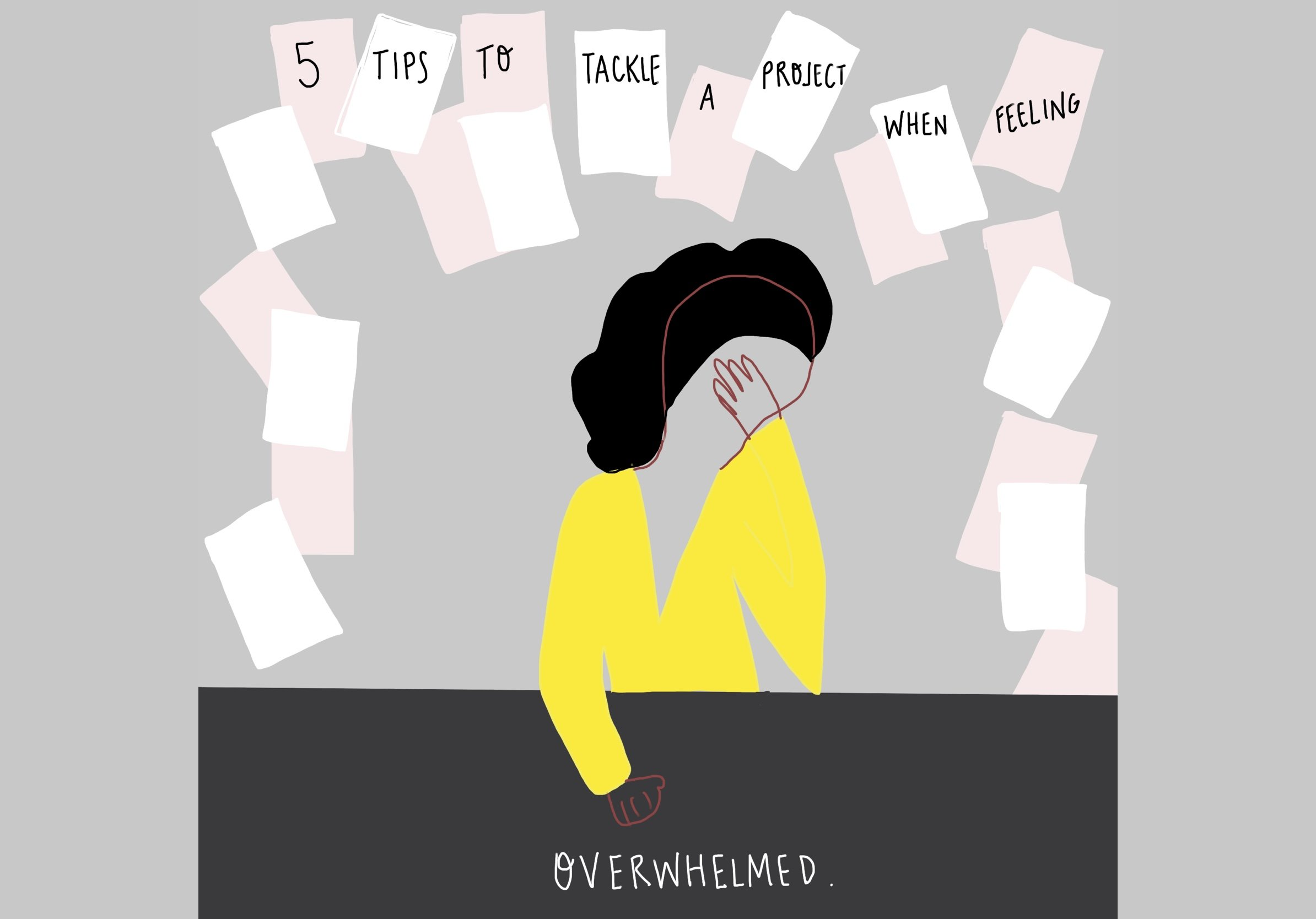 5 Tips to Tackle a Project When Feeling Overwhelmed on FeelGood Fibers