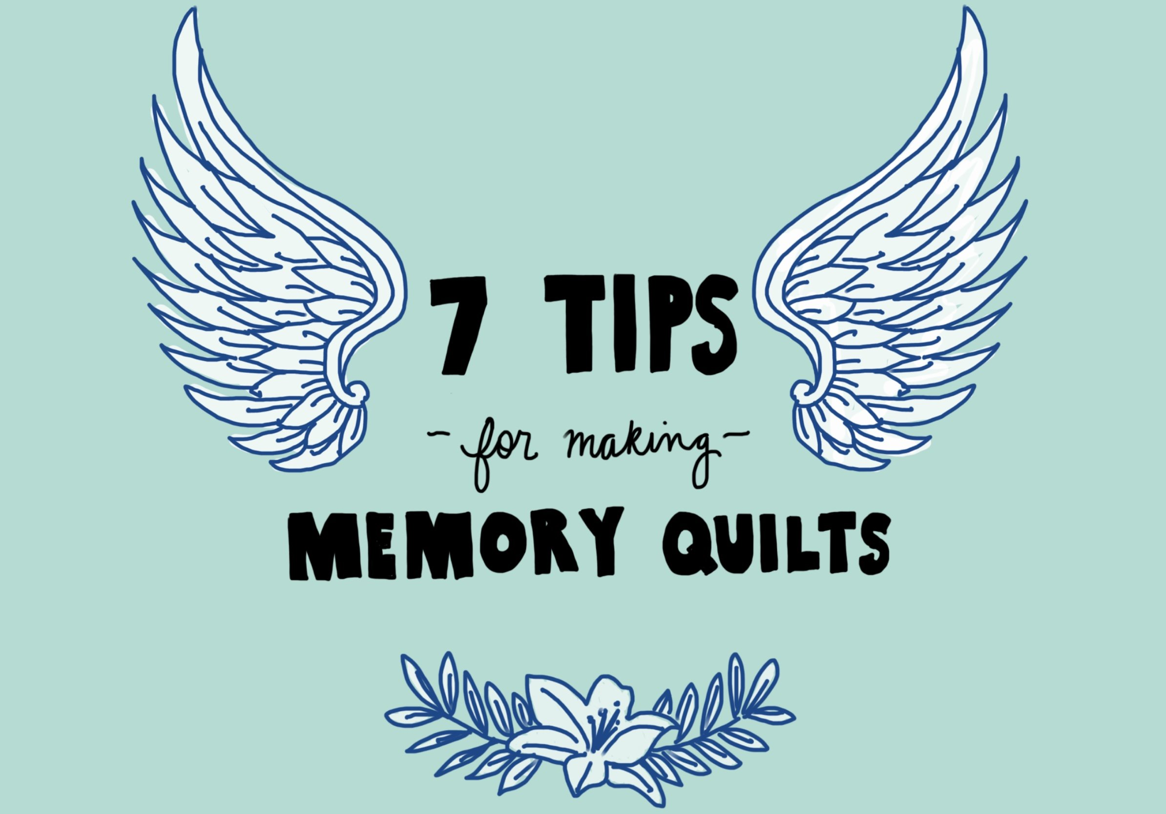 7 Tips for making memory quilts on feelgood fibers with @tree.textiles