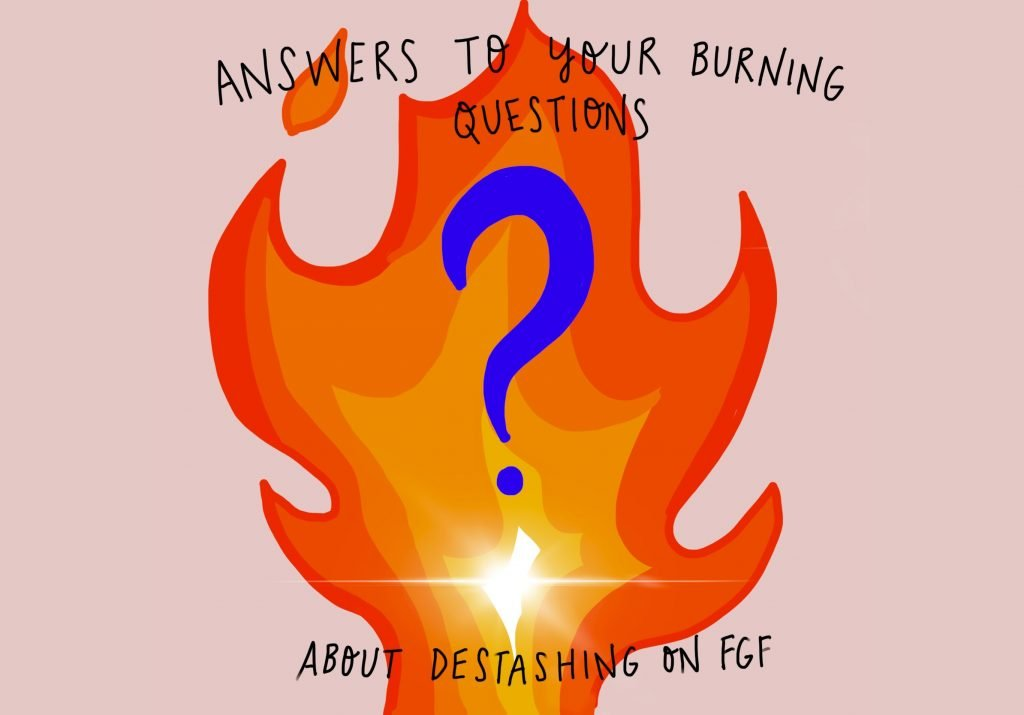Picture of a flame with a question mark in the middle of it